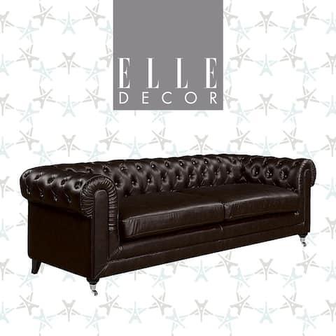 "Elle Decor Amery 91"" Tufted Sofa"