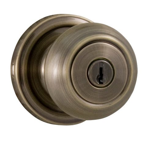 Weslock 640Z Savannah Keyed Entry Door Knob with Round Rose from the Traditionale Collection -