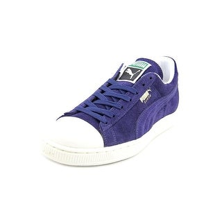Puma Suede Rubber Toe Men  Round Toe Suede Blue Sneakers