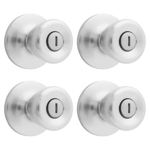 Atlas 4-pack Tulip Privacy Door Knob Contractor's Pack