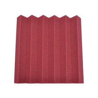 Burgundy 2 Inch Studio Acoustic Foam Sheet Sound Absorbing Sound Dampening