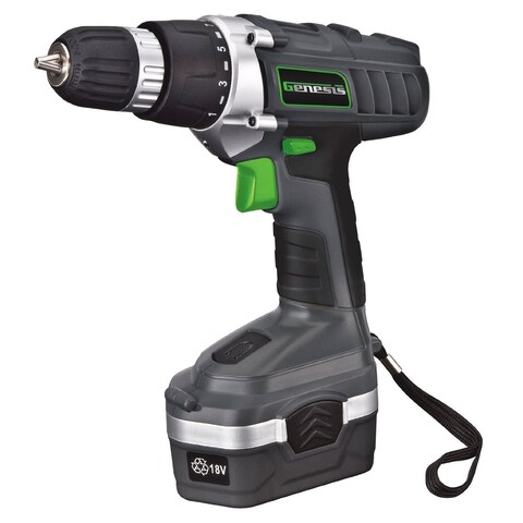 Genesis GCD18BK Cordless Drill/Driver Kit, 18 Volts
