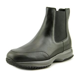 Hogan Interctive Stiv Aletto Elastico Round Toe Leather Boot