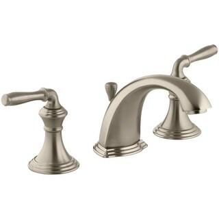 Kohler K-394-4 Devonshire Widespread Bathroom Faucet with UltraGlide Valve and Quick Mount Technology - Free Metal Pop-Up Drain