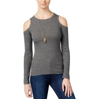 Planet Gold Womens Juniors Blouse Ribbed Knit Solid