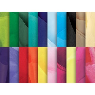 """(480 pack) Solid 20 Color Assortment Tissue 20 x 26"""" Sheet Ream Made from Post Industrial Recycled Fibers"""