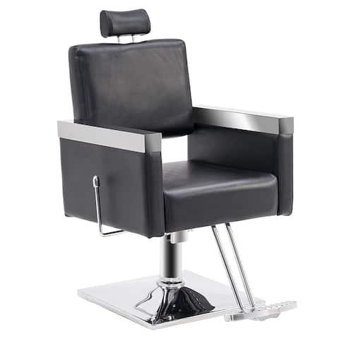 BarberPub Classic Recline Hydraulic Barber Chair Salon Spa Chair Hair Styling Beauty Equipment 3018 - N/A