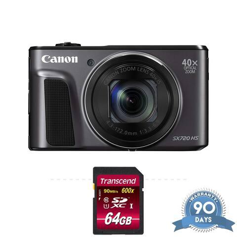 Canon PowerShot SX730 HS Digital Camera (Black) - with Memory Card -