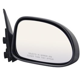 Pilot Automotive Black Passenger/ Driver Side Non-Folding Power Non-Heated Replacement Mirror for Dodge Dakota Durango 01-04