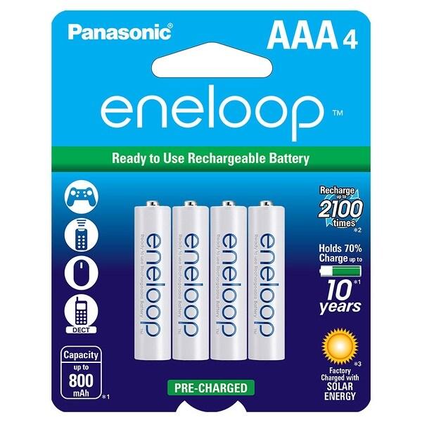 Panasonic BK-4MCCA4BA eneloop AAA New 2100 Cycle Ni-MH Pre-Charged Rechargeable Batteries