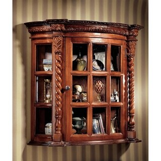 Design Toscano Cardington Square Manor Curio Cabinet