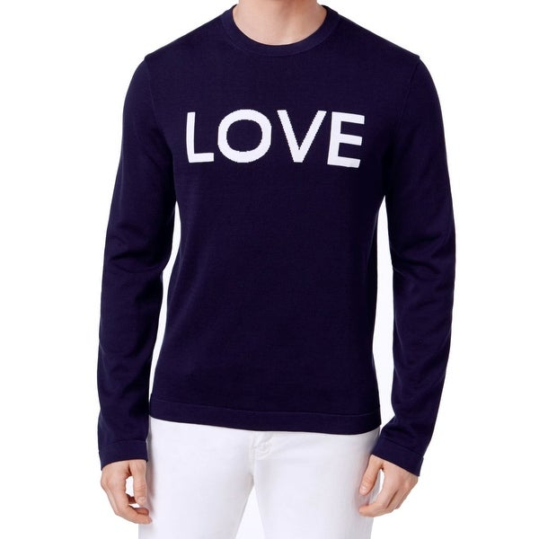 0f87644041ae Shop Michael Kors Blue Mens Size 2XL Love Graphic Crewneck Sweater - Free  Shipping Today - Overstock - 22408074