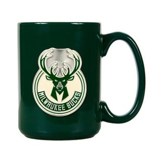 Milwaukee Bucks 15oz Green Ceramic Mug (Primary Logo)