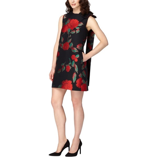 d67f2c964f05e Shop Tahari ASL Womens Cocktail Dress Jacquard Floral Print - 6 - Free  Shipping On Orders Over $45 - Overstock.com - 20224603