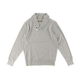 Scott James Mens Heathered Shawl Collar Pullover Sweater - XXL