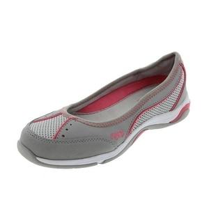 Ryka Womens Tensile Leather Slip On Ballet Flats