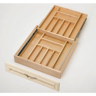 """Rev-A-Shelf 4WTCD-24-1 4WTCD Series Two-Tiered Cutlery Drawer for 24"""" Base Cabinet"""