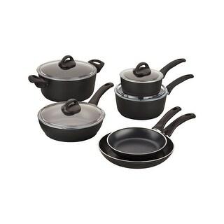 Ballarini Pisa Forged Aluminum 10-pc Nonstick Cookware Set - Black