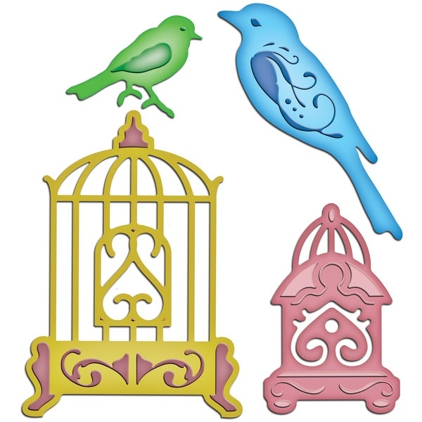 Spellbinders Shapeabilities Dies-Bird Sanctuary