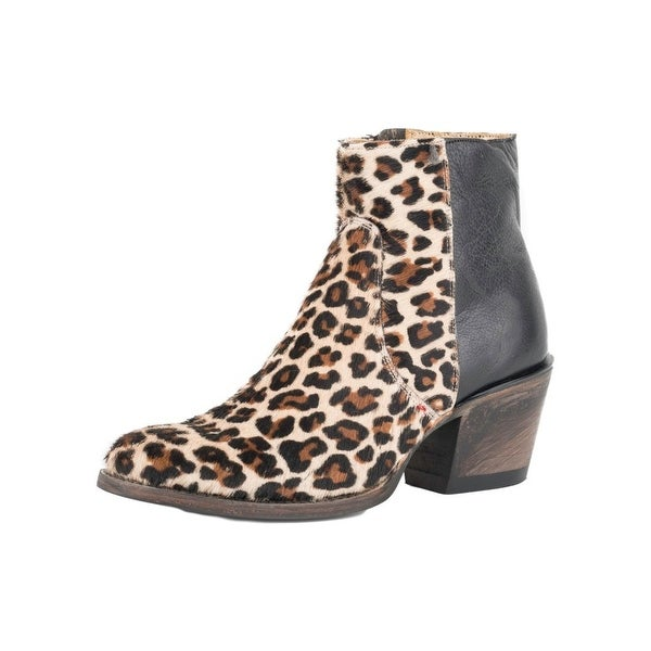 Stetson Western Boots Womens Goat Cheetah Print