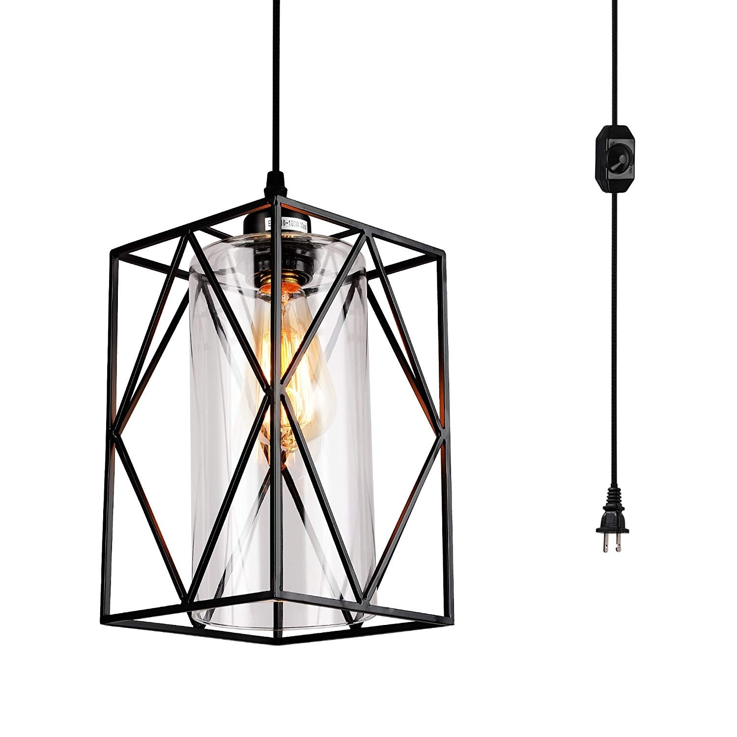 Gl Plug In Cord On Or Off Dimmer Switch Swag Pendant Light