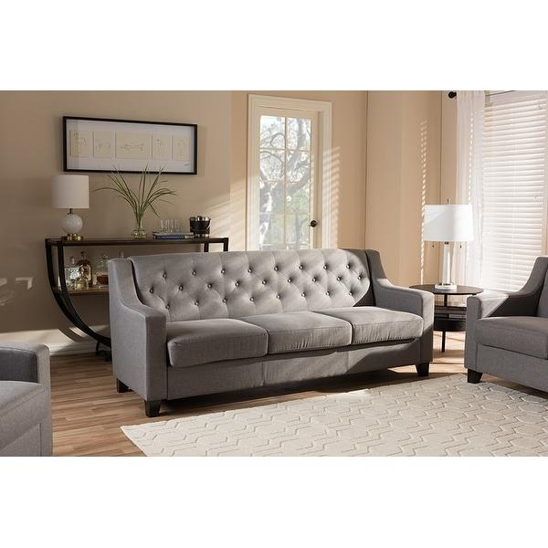 Baxton Studio Arcadia Modern And Contemporary Grey Fabric