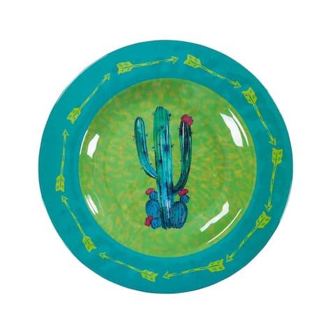 HiEnd Accents Cactus Design Melamine Salad Plate, 4 PC