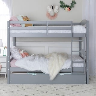 Taylor & Olive Wood Twin-over-Twin Bunk Bed with Trundle