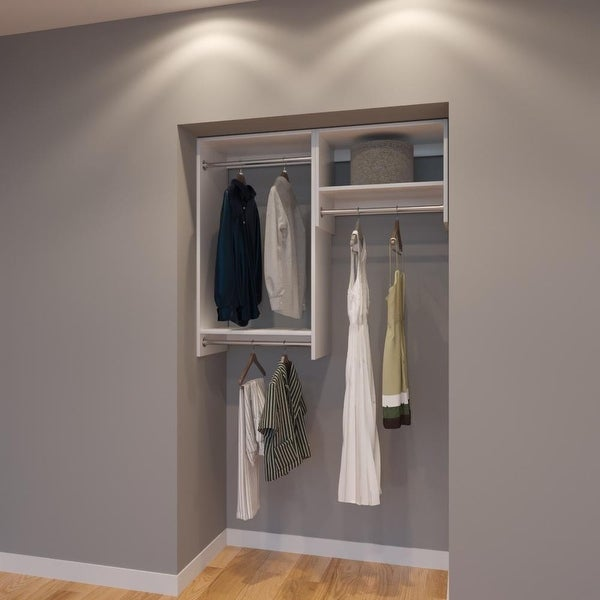 Modular Closets 4 Ft Closet Organizer System - 48 inch - Style A