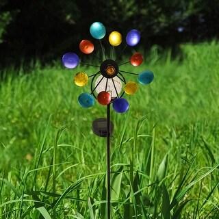 WhrilWind - Solar LED Garden Pinwheel