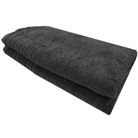 Homvare® Bath Towels Super Soft Cotton Machine Washable Luxury Bath Sheet 600 GSM - Grey - 27 x 52