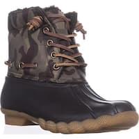 Steve Madden Torrent Short Rain Boots, Camo Multi - 7 us