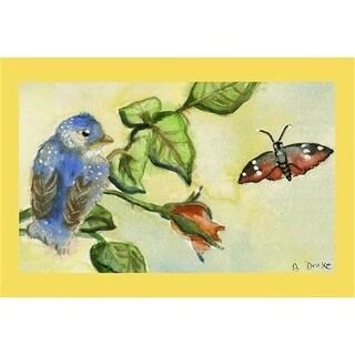 """Betsy Drake DM249G Bluebird Door Mat 30""""x50"""""""