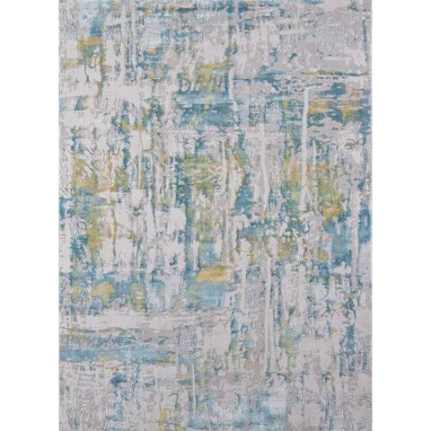 Momeni Portland Polyester Blend Abstract Area Rug