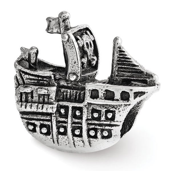 Sterling Silver Reflections Pirate Ship Bead (4mm Diameter Hole)