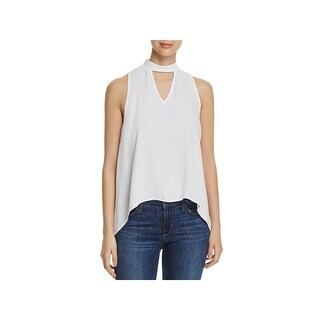 Elan Womens Tank Top Choker V-Neck