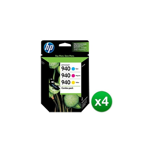 HP 940 Multi-Color Original Ink Cartridges-3 Cartridges (CN065FN)(4-Pack)