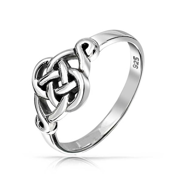 Shop 925 Sterling Silver Irish Celtic Love Knot Ring On Sale