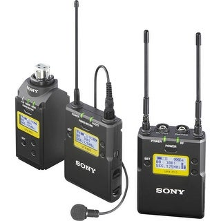 Sony UWP-D16 Integrated Digital Plug-on & Lavalier Combo Wireless Microphone System (UHF Channels 30/36 and 38/41: 566 to 608)