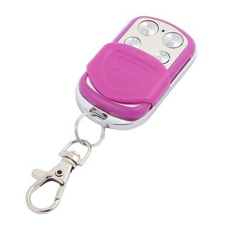 100M 4 Keys Waterproof Car Anti-theft Alarm Digital Remote Controller Purple