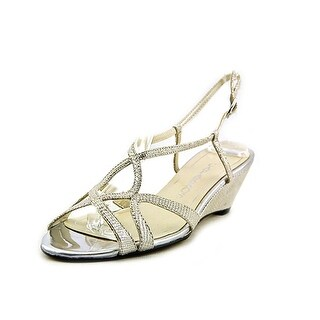 Caparros Lisette Open Toe Synthetic Wedge Sandal