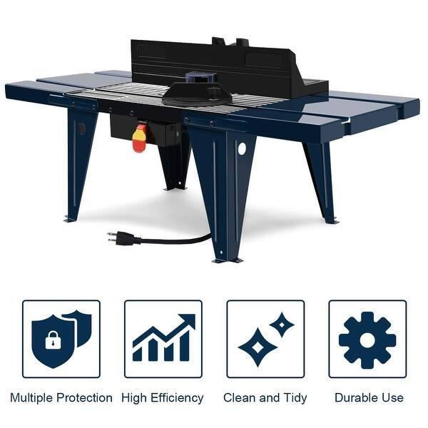 KKmoon Router Platte Aluminiumlegierung Router Tisch mit 2 Ringen und Schrauben Holzbearbeitung B/änke