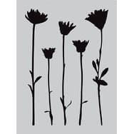 """Wildflowers - Darkroom Door Stencil 4.5""""X6"""""""