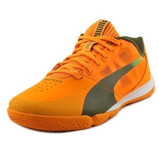 Puma evoSPEED Sala Youth Round Toe Synthetic Orange Sneakers