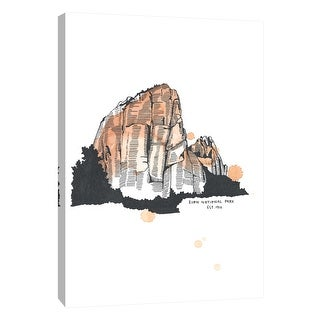 "PTM Images 9-105644  PTM Canvas Collection 10"" x 8"" - ""Nation Park Zion"" Giclee Abstract Art Print on Canvas"