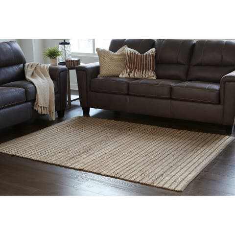 Gliona Farmhouse Two-tone Brown Rug