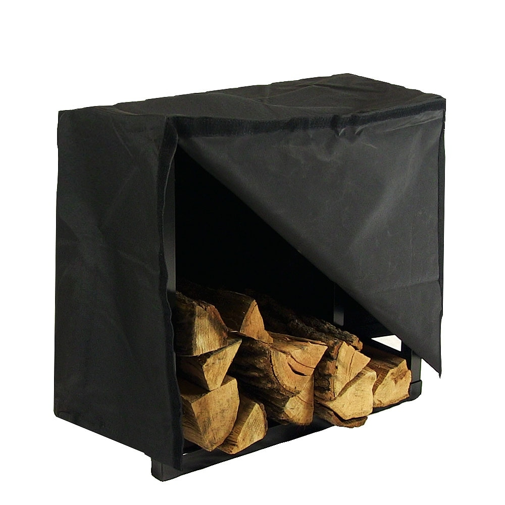Sunnydaze 2-Foot Indoor Firewood Log Rack - Black - Thumbnail 2