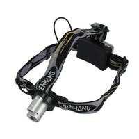 Zoomable Light Biking Camping Hiking Dual Lighting Source Head Lamp LED Headlamp