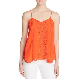 Parker Womens Camisole Silk Embroidered