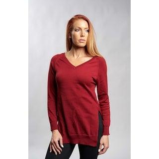 Wine V-Neck Sweater